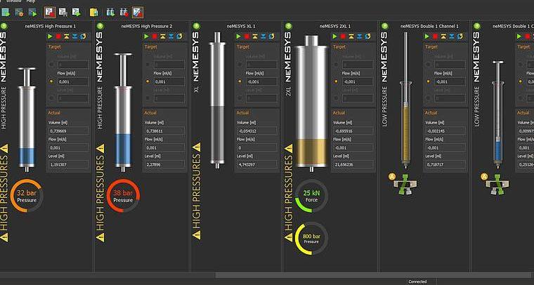 CETONI Elements software - pump GUI