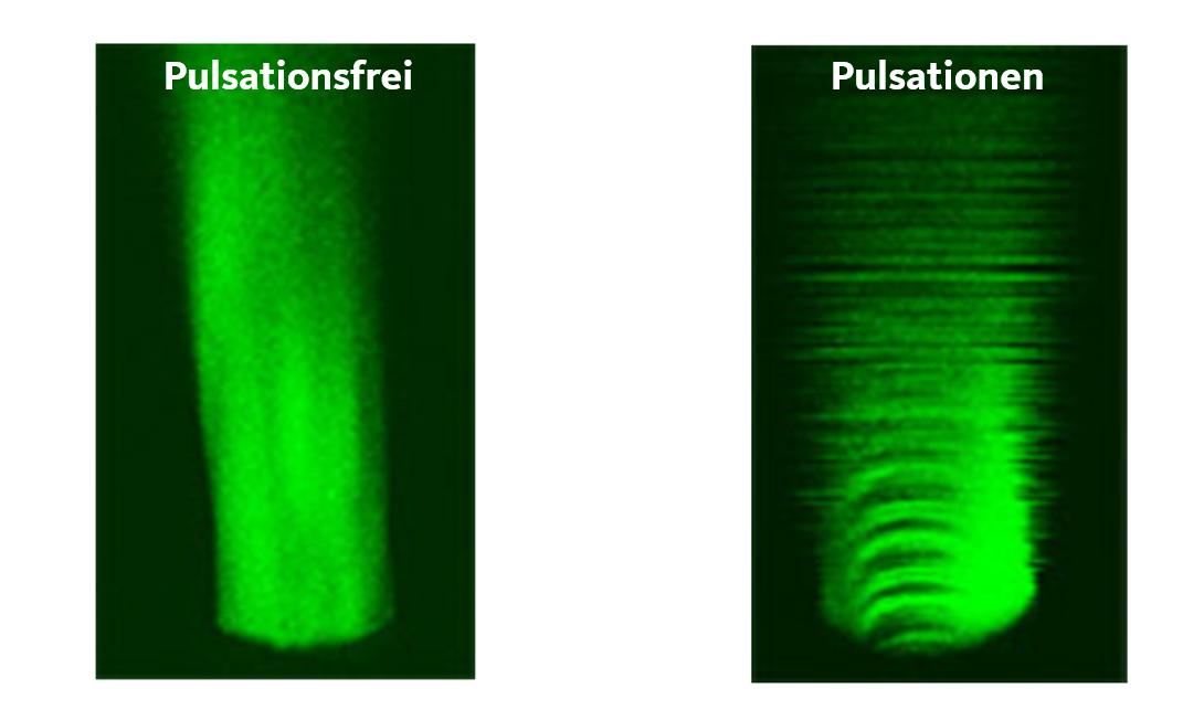 comparison of fluid pulsation