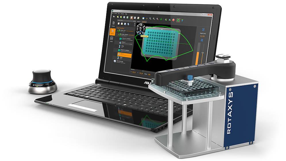 Rotaxys mit PC und CETONI Elements UI