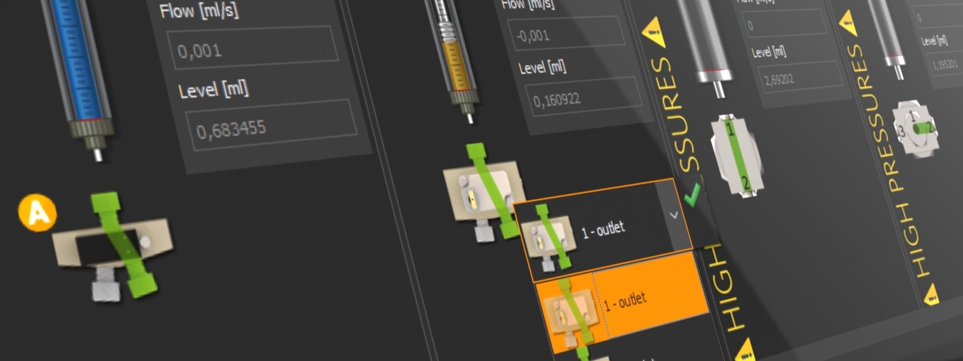 CETONI Elements Nemesys dosiing panel