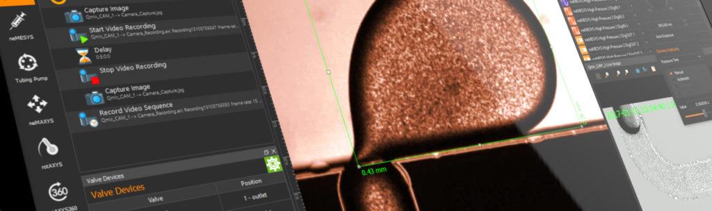 CETONi Elemeents Software Kamera plugin mit Tropfen